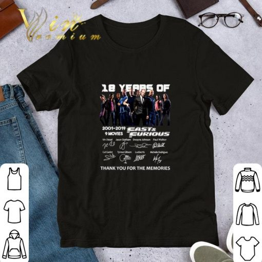 18 year of Fast Furious 2001 2019 9 movies signatures shirt 1 1 510x510 - 18 year of Fast & Furious 2001-2019 9 movies signatures shirt