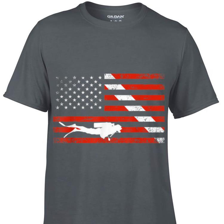 Awesome Diver Down American Flag shirt