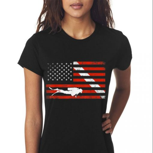 Awesome Diver Down American Flag shirt 3 1 510x510 - Awesome Diver Down American Flag shirt
