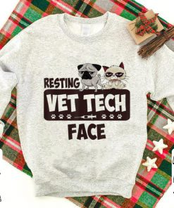 Awesome Pug and Grumpy Resting Vet Tech Face shirt 1 1 247x296 - Awesome Pug and Grumpy Resting Vet Tech Face shirt