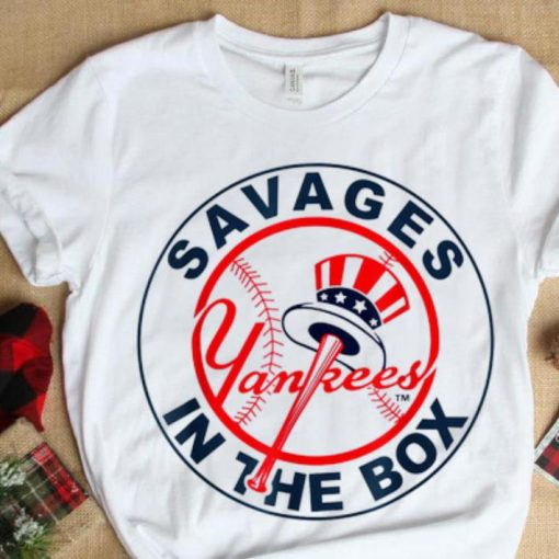 Awesome Savages In The Box Yankees Baseball shirt 1 1 510x510 - Awesome Savages In The Box Yankees Baseball shirt
