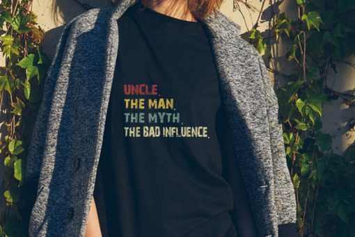 Awesome Uncle the Man the Myth the Bad Influence Retro Vintage shirt 2 1 510x341 - Awesome Uncle the Man the Myth the Bad Influence Retro Vintage shirt