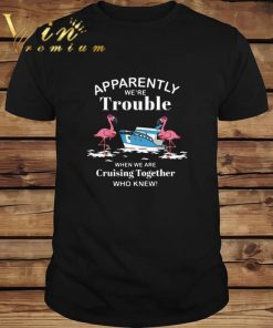 Funny Apparently we re trouble when we are cruising together who knew flamingos shirt 1 1 247x296 - Funny Apparently we're trouble when we are cruising together who knew flamingos shirt