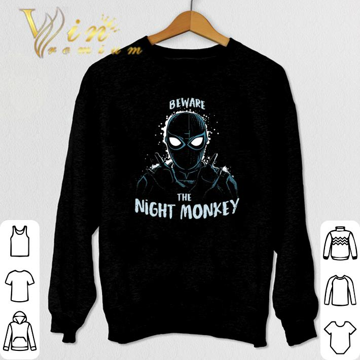 Funny Beware The Night Monkey Spider Man Far From Home shirt