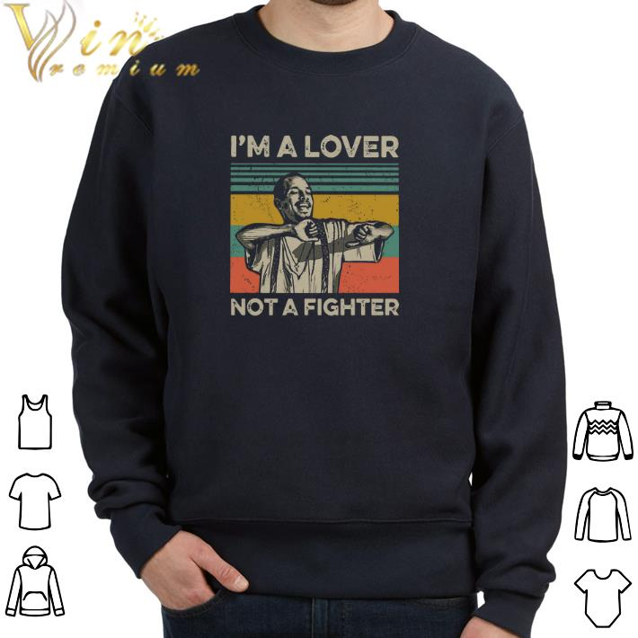 Funny Blood in Blood Out Cruzito I'm a lover not a fighter vintage shirt