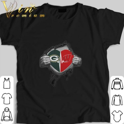 Funny Green Bay Packers inside my heart Wisconsin Badgers shirt 1 1 510x510 - Funny Green Bay Packers inside my heart Wisconsin Badgers shirt