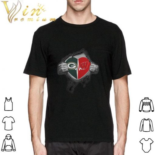 Funny Green Bay Packers inside my heart Wisconsin Badgers shirt 2 1 510x510 - Funny Green Bay Packers inside my heart Wisconsin Badgers shirt