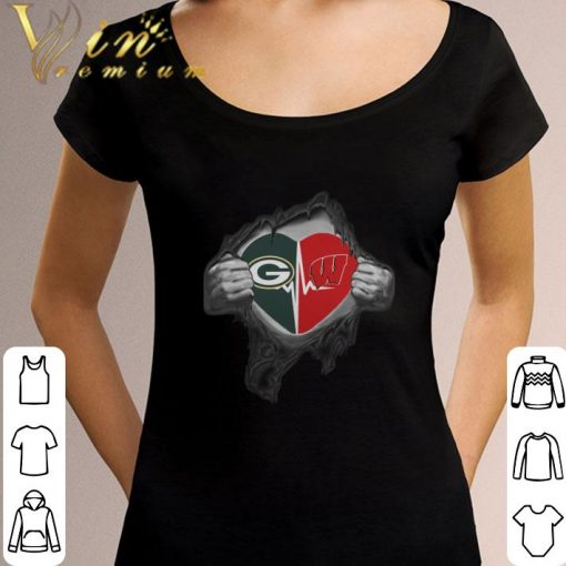 Funny Green Bay Packers inside my heart Wisconsin Badgers shirt 3 1 510x510 - Funny Green Bay Packers inside my heart Wisconsin Badgers shirt