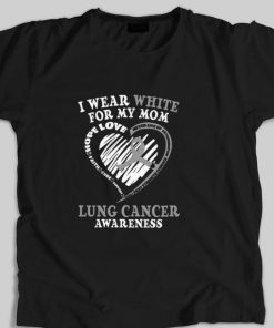 Funny I wear white for my mom Lung cancer awareness shirt 1 1 247x296 - Funny I wear white for my mom Lung cancer awareness shirt