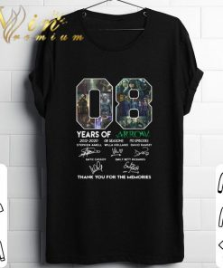Hot 08 years of Arrow signatures thank you for the memories shirt 1 1 247x296 - Hot 08 years of Arrow signatures thank you for the memories shirt