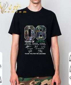 Hot 08 years of Arrow signatures thank you for the memories shirt 2 1 247x296 - Hot 08 years of Arrow signatures thank you for the memories shirt