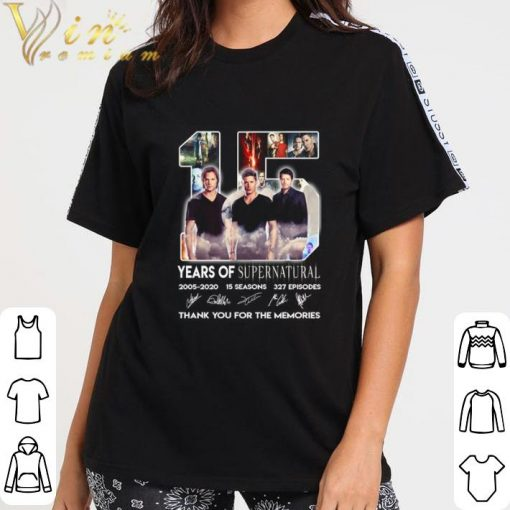 Hot 15 years of Supernatural 2005 2020 15 seasons signatures 327 ep shirt 3 2 1 510x510 - Hot 15 years of Supernatural 2005-2020 15 seasons signatures 327 ep shirt