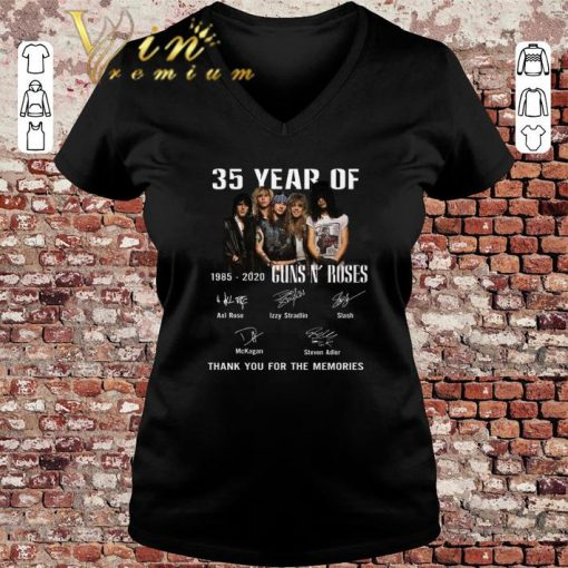 Hot 35 Year Of Gun N Roses 1985 2020 Thank You For The Memories shirt 3 1 510x510 - Hot 35 Year Of Gun N' Roses 1985-2020 Thank You For The Memories shirt