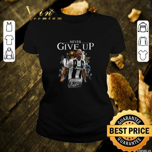 Hot Cristiano Ronaldo Never give up signature shirt 2 1 510x510 - Hot Cristiano Ronaldo Never give up signature shirt