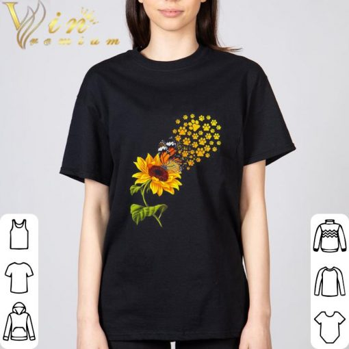 Hot Dog paw sunflower and butterfly shirt 3 1 510x510 - Hot Dog paw sunflower and butterfly shirt