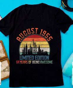 Hot Limited Edition 64 Year Of Being Awesome August 1955 Birthday shirt 2 1 247x296 - Hot Limited Edition 64 Year Of Being Awesome August 1955 Birthday shirt