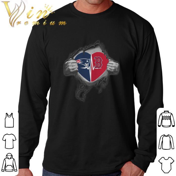 329f1bc0 Hot New England Patriots Boston Red Sox inside my heart shirt