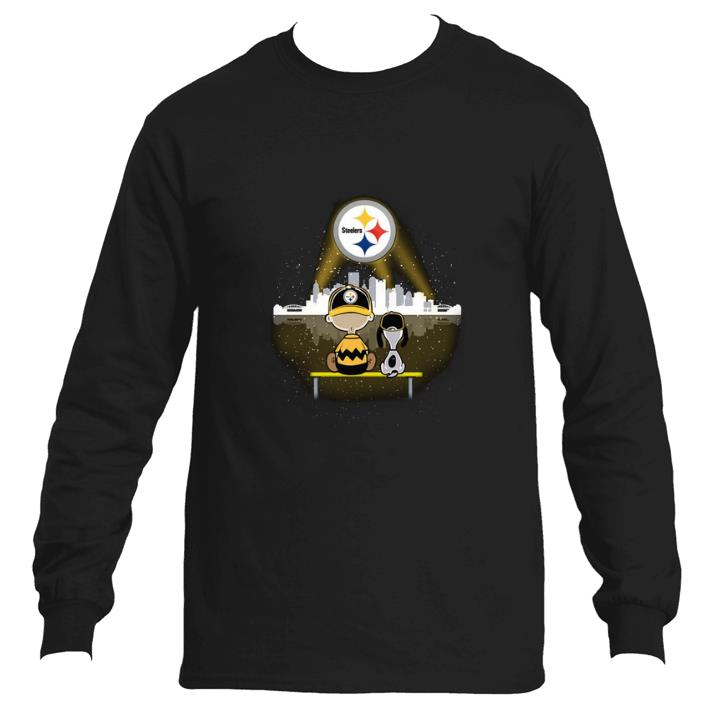 Nice Snoopy and Charlie Brown Pittsburgh Steelers shirt