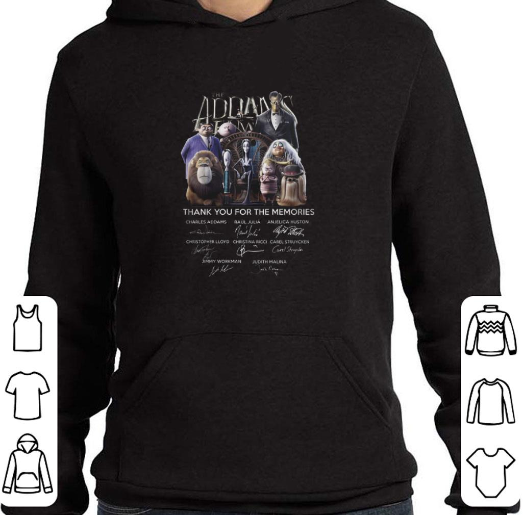 Nice The Addams Family thank you for the memories signatures shirt