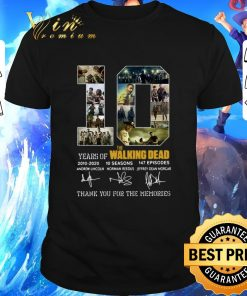 Official 10 Years of The Walking Dead 2010 2020 signatures shirt 1 1 247x296 - Official 10 Years of The Walking Dead 2010-2020 signatures shirt