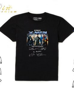 Official 20 years of X Men thank you for the memories signatures shirt 1 1 247x296 - Official 20 years of X-Men thank you for the memories signatures shirt