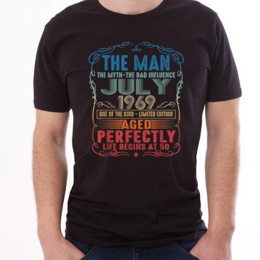Official 50th Birthday The Man Myth Bad Influence July 1969 shirt 1 1 510x510 - Official 50th Birthday The Man Myth Bad Influence July 1969 shirt