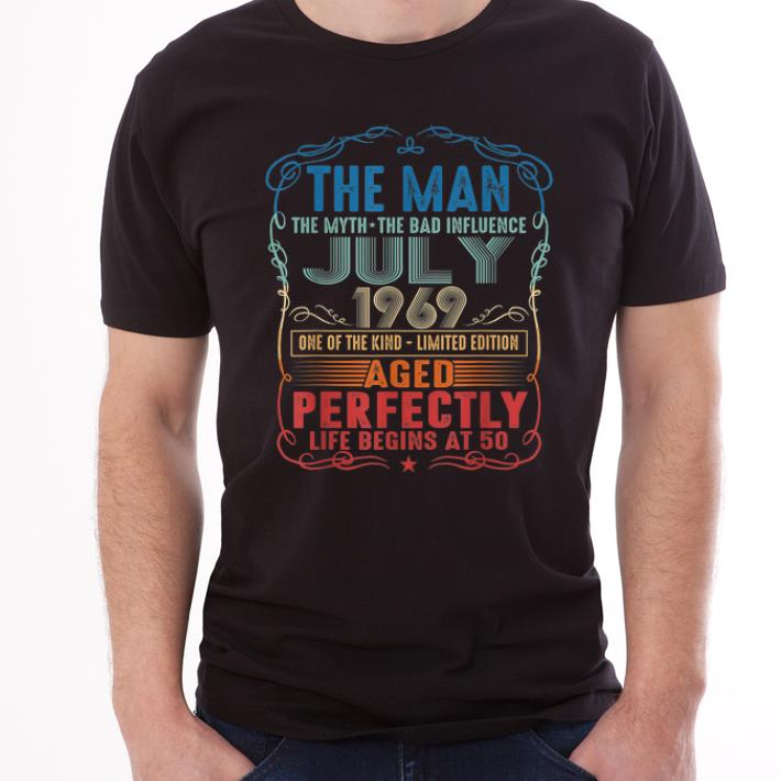 Official 50th Birthday The Man Myth Bad Influence July 1969 shirt