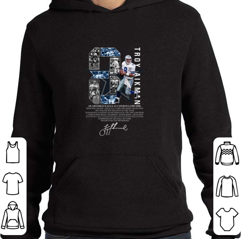 Official 8 Troy Aikman Quarterback Dallas Cowboys 1989-2000 signature shirt