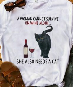 Official A Woman Cannot Survive On Wine Alone She Also Needs A Cat shirt 1 1 247x296 - Official A Woman Cannot Survive On Wine Alone She Also Needs A Cat shirt