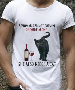 Official A Woman Cannot Survive On Wine Alone She Also Needs A Cat shirt 2 1 247x296 - Official A Woman Cannot Survive On Wine Alone She Also Needs A Cat shirt
