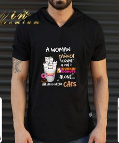 Official A woman cannot survive on Dunkin Donuts alone she also needs cats shirt 2 1 247x296 - Official A woman cannot survive on Dunkin' Donuts alone she also needs cats shirt