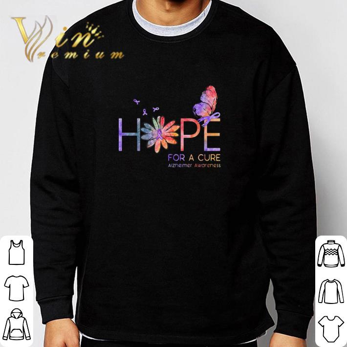Official Butterfly Hope for a cure Alzheimer Awareness flower shirt
