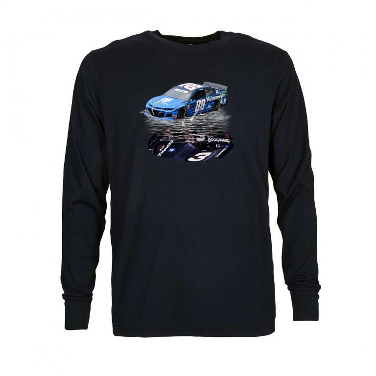 Official Dale Earnhardt Jr. car water mirror reflection shadow shirt