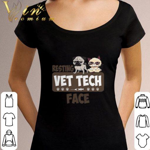 Official Pug and Grumpy cat resting vet tech face shirt 3 1 510x510 - Official Pug and Grumpy cat resting vet tech face shirt