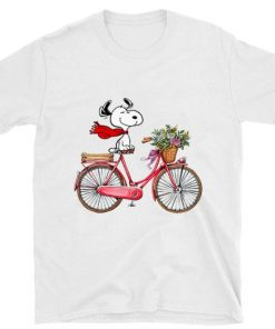 Official Snoopy and bicycle shirt 1 1 247x296 - Official Snoopy and bicycle shirt