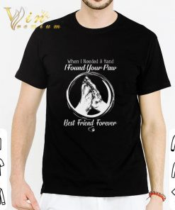 Official When i needed a hand i found your paw best friend forever shirt 2 1 247x296 - Official When i needed a hand i found your paw best friend forever shirt