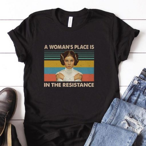 Original Carrie Fisher A woman s place is in the resistance vintage shirt 1 1 510x510 - Original Carrie Fisher A woman's place is in the resistance vintage shirt
