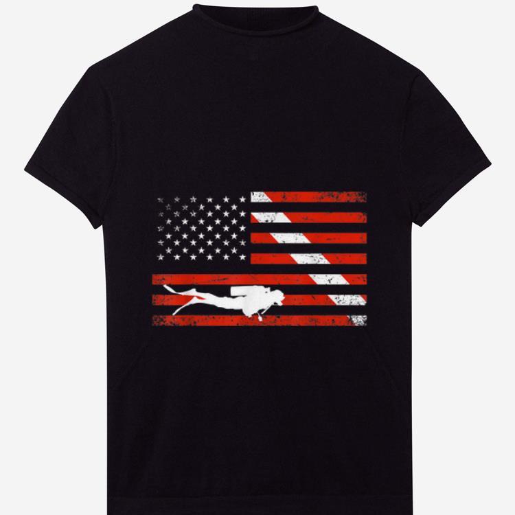 Original Diver Down American Flag shirt