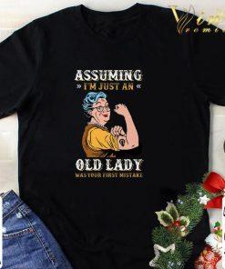 Original Grandma Assuming i m just an old lady was your first mistake shirt 1 1 247x296 - Original Grandma Assuming i'm just an old lady was your first mistake shirt