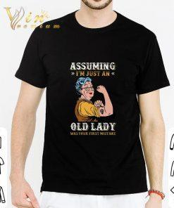 Original Grandma Assuming i m just an old lady was your first mistake shirt 2 1 247x296 - Original Grandma Assuming i'm just an old lady was your first mistake shirt