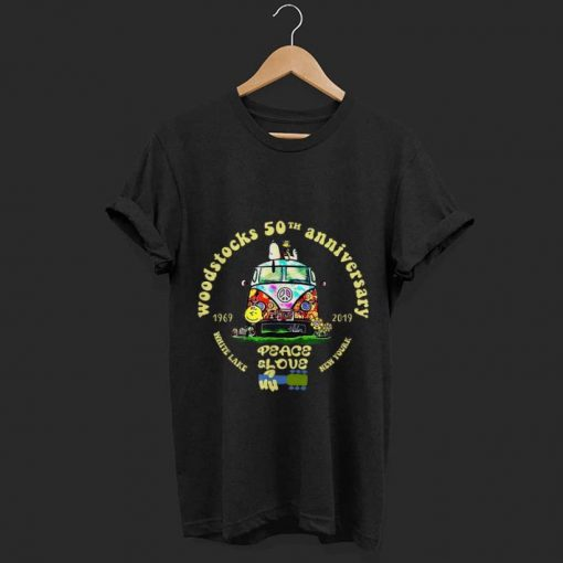 Original Woodstock 50th Anniversary Peace Bus Snoopy and Charlie Brown White lake New york shirt 1 1 510x510 - Original Woodstock 50th Anniversary Peace Bus Snoopy and Charlie Brown White lake New york shirt