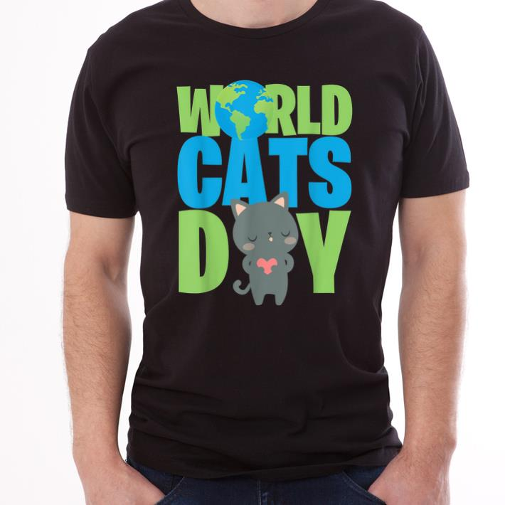 Original World Cats Day Katzen Geschenk Cats Lover shirt