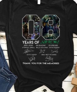 Premium 8 Years Of Arrow Thank You For The Memories Signature shirt 1 1 247x296 - Premium 8 Years Of Arrow Thank You For The Memories Signature shirt