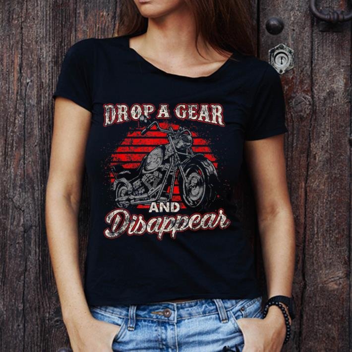 Drop A Gear and Disappear Womens V-Neck Short Sleeve T-Shirt
