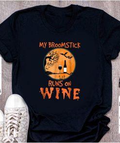 Pretty My Broomstick Runs On Wine Halloween shirt 1 1 247x296 - Pretty My Broomstick Runs On Wine Halloween shirt