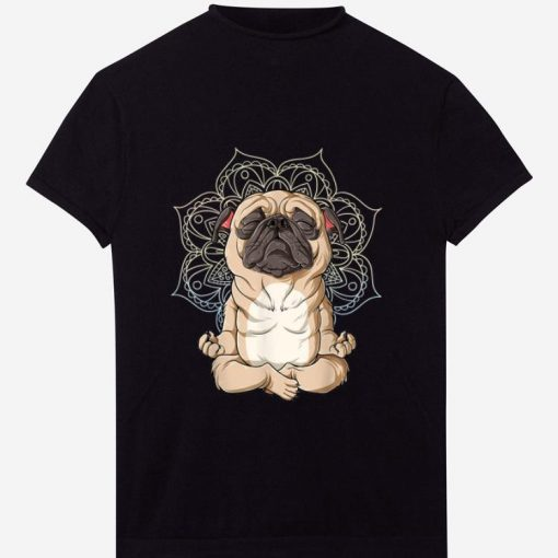 Pretty Pug Yoga Spiritual Meditation Mandala Let It Be shirt 1 1 510x510 - Pretty Pug Yoga Spiritual Meditation Mandala Let It Be shirt
