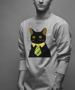 Top Black Business Cat Kitten With Yellow Tie shirt 2 1 247x296 - Top Black Business Cat Kitten With Yellow Tie shirt