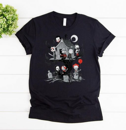 Awesome Horror Clubhouse Horror Character shirts 1 1 510x528 - Awesome Horror Clubhouse Horror Character shirts