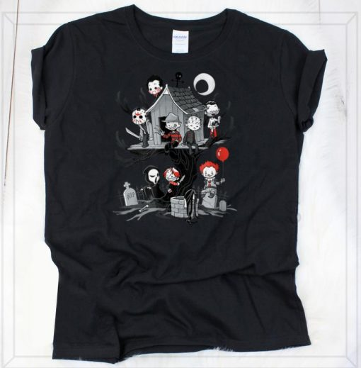Awesome Horror Clubhouse Horror Character shirts 2 1 510x519 - Awesome Horror Clubhouse Horror Character shirts