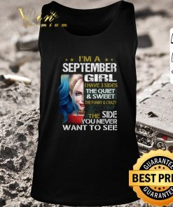 Awesome I m a september girl i have 3 sides the quiet sweet Harley Quinn shirt 2 1 247x296 - Awesome I'm a september girl i have 3 sides the quiet sweet Harley Quinn shirt